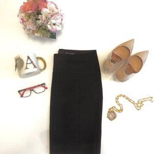 Express | Chocolate Brown Seemed Pencil Skirt